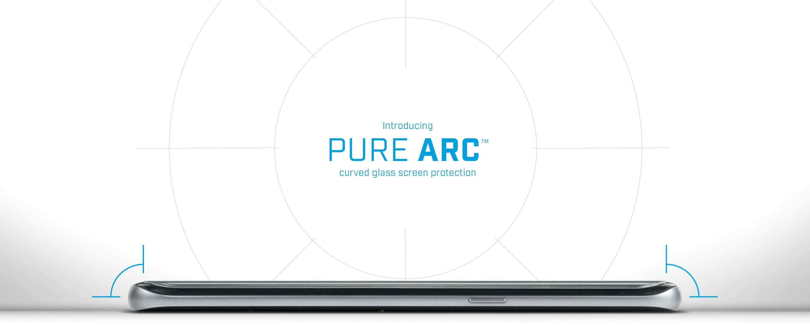 Pure Arc curved glass phone screen protectors